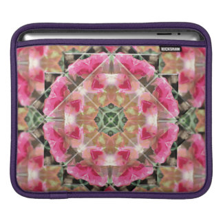 Red Rose Mandala Rickshaw iPad Sleeve
