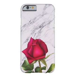 Red Rose Marble Modern Glam Floral Flower Barely There iPhone 6 Case