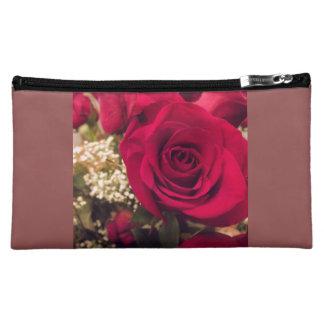Red Rose Medium Cosmetic Bag