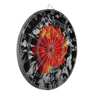 Red rose Metal Cage Dartboard