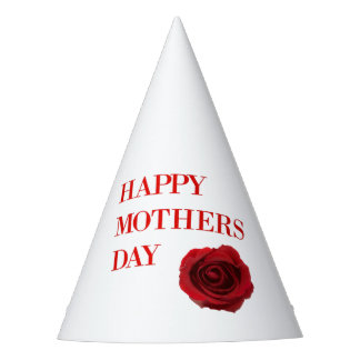 Red Rose Mothers Day Party Hat