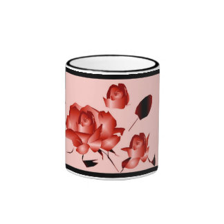 """Red Rose"" Mug - Customizable Mug"