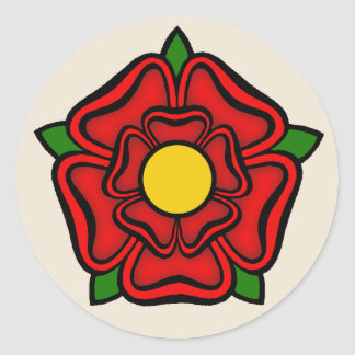 Red Rose of Lancaster, England Emblem of Royalty Classic Round Sticker