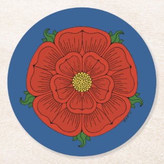 Red Rose of Lancaster Paper Coasters Round Paper Coaster