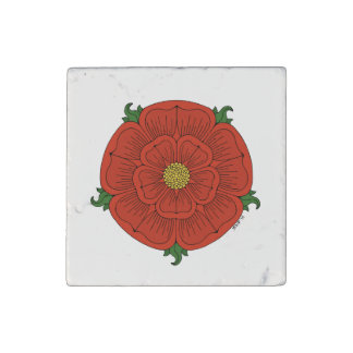 Red Rose of Lancaster Stone Magnet