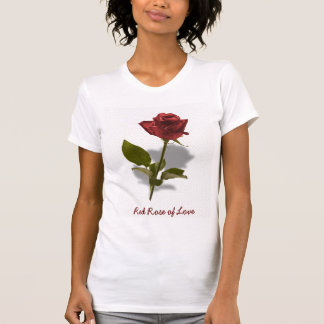 Red Rose of Love Portrait T-Shirt
