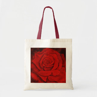 Red Rose on a Budget Tote. Tote Bag