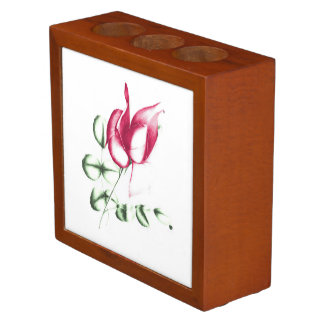 Red Rose on Desk Organiser