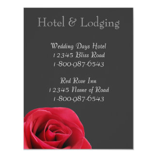 Red Rose on grey Hotel & Lodging Cards