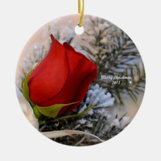 Red Rose Ornament 2011