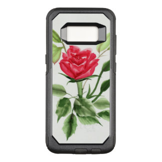 Red Rose OtterBox Commuter Samsung Galaxy S8 Case