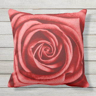 Red Rose Outdoor Cushion