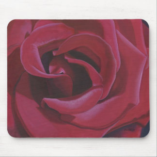 Red Rose Painting - Mouse Pad