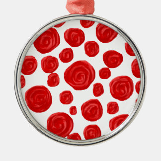 Red Rose Pattern Ornaments