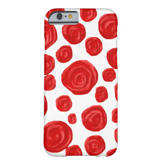 Red Rose Pattern on White. Barely There iPhone 6 Case