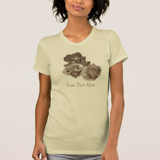 Red rose peach rose blue rose flower art t shirts