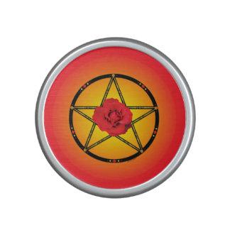 """Red Rose Pentagram"" Bumpster Speaker"