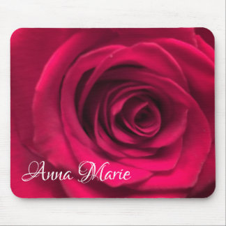 Red Rose Personalized Mouse Pad