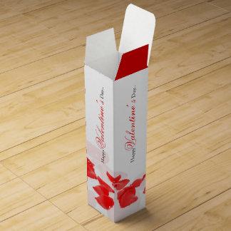 Red rose petal wine gift box