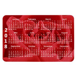 Red Rose Petals 2018 Calendar Magnet