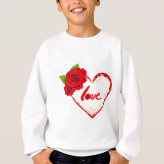 Red Rose Petals Love Sweatshirt