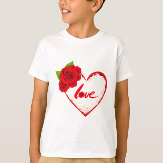 Red Rose Petals Love T-Shirt