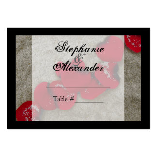 Red Rose Petals on Sand Beach Wedding Business Cards