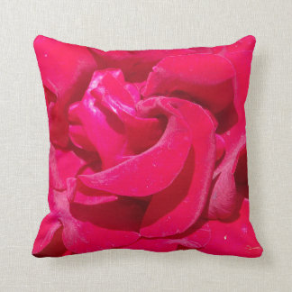 Red Rose Petals Pillow
