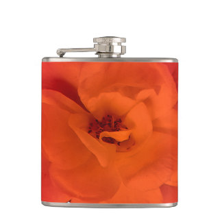 Red Rose Photo Flask