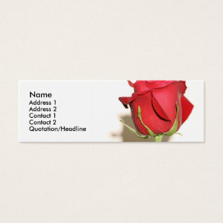 Red Rose Photo Wedding Favor Tag Customizable