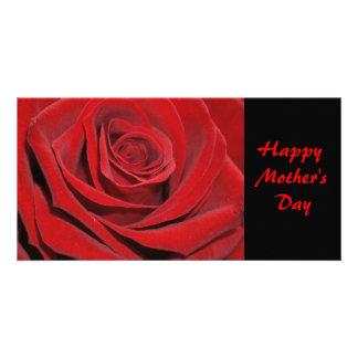 Red rose - photomap custom photo card