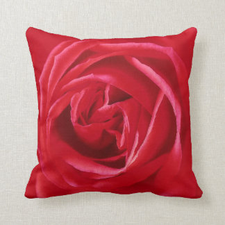 Red rose print pillow