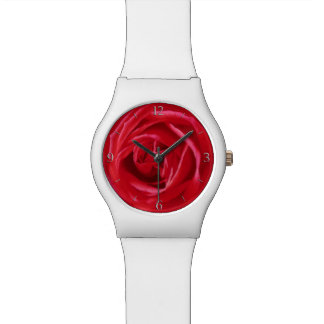 Red rose print watches