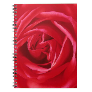 Red rose print notebook