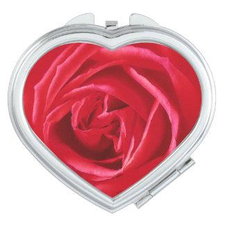 Red rose print vanity mirror