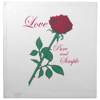 Red Rose Printed Napkins