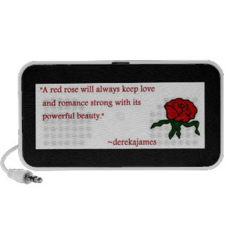 Red Rose Quote Doodle Speaker