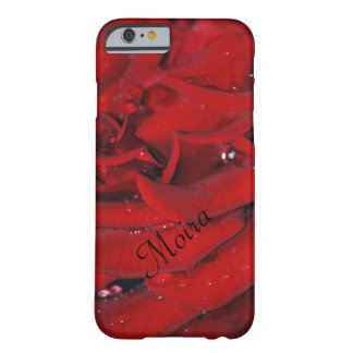 Red Rose raindrop Moira Barely There iPhone 6 Case