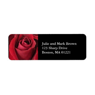 Red Rose Return Address Label