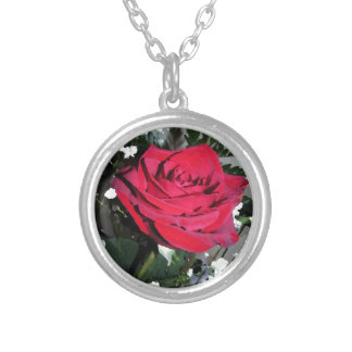 Red Rose Romance Holiday Bridal Party Christmas Pendant