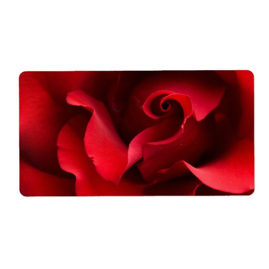 Red Rose - Roses Customised Template Shipping Label