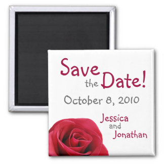 "Red Rose ""Save the Date"" Magnets"