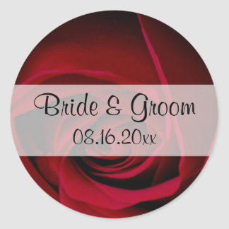 Red Rose Save the Date Stickers