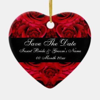 red rose save the date wedding invitations elegant ceramic heart decoration
