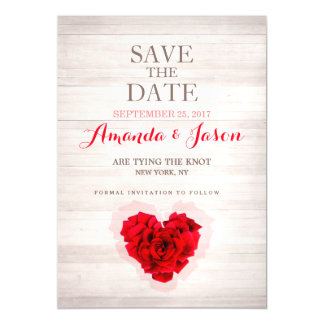 Red rose save the dates magnetic card hhn01 magnetic invitations