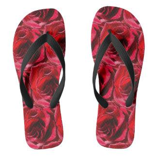 Red Rose Shower Shoes FlipFlops