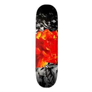 Red rose skateboard