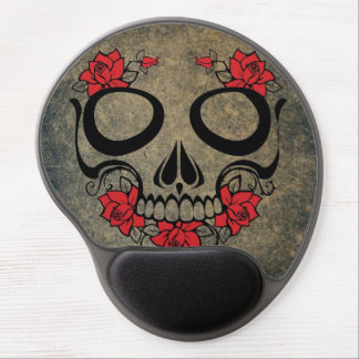 Red Rose Skull Gel Mouse Pad