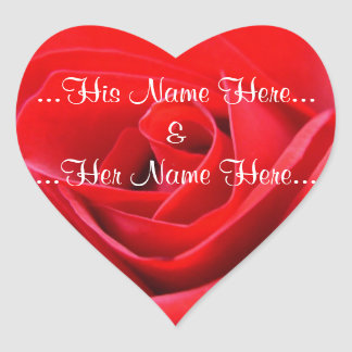 Red Rose Stickers Romantic Rose Wedding Stickers