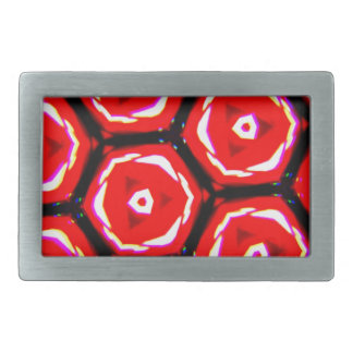 Red rose style honeycomb pattern belt buckle
